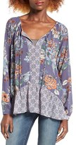 O'Neill Women's Delaney Print Peasant Top