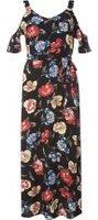 Dorothy Perkins Womens Petite Multi Floral Frill Maxi Dress- Fl Multi