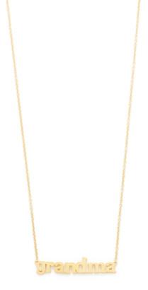 Jennifer Meyer 18k Gold Grandma Necklace