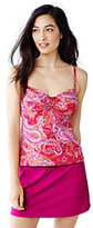 Classic Women's Petite Beach Living Adjustable Top-Cerise Pink Etched Paisley