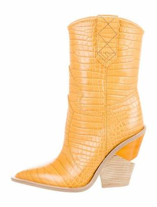 Fendi Yellow Women's Boots   Shop the