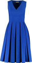 Michael Kors Pleated stretch-cotton dress