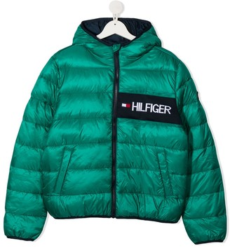 Tommy Hilfiger Junior TEEN logo embroidered padded jacket