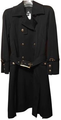 Versace Black Wool Trench Coat for Women Vintage