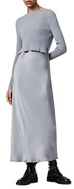 AllSaints Hera Two In One Slip Dress
