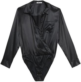 alexanderwang.t Wrap-effect Silk-satin Bodysuit