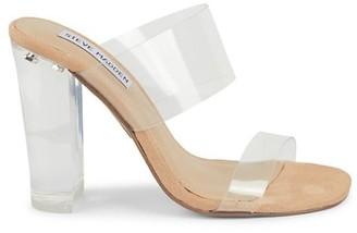 Steve Madden Jolah Clear-Strap Block Heel Sandals
