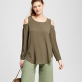 Kit + Sky Women's Woven Off-The-Shoulder Blouse with Keyhole Back
