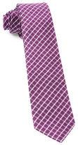 The Tie Bar Textured Check Silk Tie