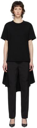 Comme des Garcons Black Draped Bottom Dress