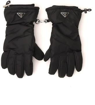 Prada Triangle Logo Gloves