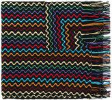 Missoni zig zag scarf with fringe