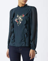 Monsoon Alara Embroidered Frill Top