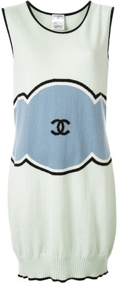 Chanel Pre Owned 2009 Cashmere Cloud Motif Dress