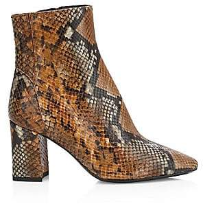 Aquatalia Women's Posey Snakeskin-Embossed Leather Ankle Boots