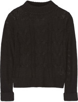 Enza Costa Cable-knit wool and cashmere-blend sweater