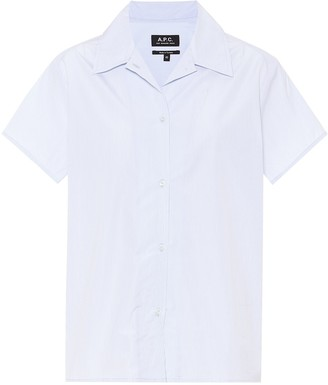 A.P.C. Striped cotton-poplin shirt
