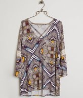 Eyeshadow Printed Top - Plus Size Only