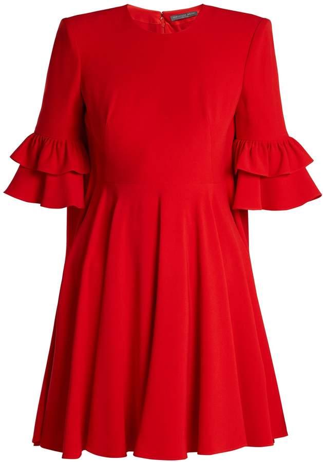 Alexander McQueen Cape-back crepe mini dress
