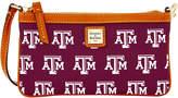 Dooney & Bourke Texas A & M Aggies Large Slim Wristlet