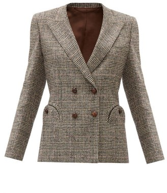 BLAZÉ MILANO Longwood Charmer Wool-blend Double-breasted Jacket - Brown White