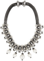 Erickson Beamon Debutante Punk Gold-plated, Faux Pearl And Swarovski Crystal Necklace - Silver