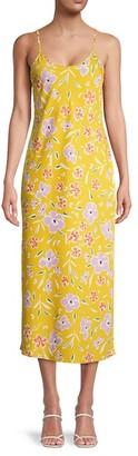 BCBGeneration Floral Midi Slip Dress