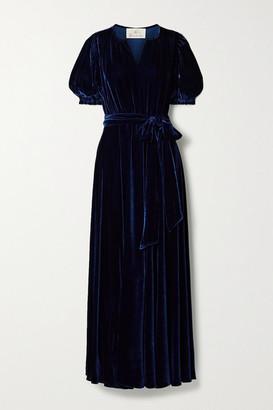 ARoss Girl x Soler Brooke Belted Velvet Maxi Dress - Navy