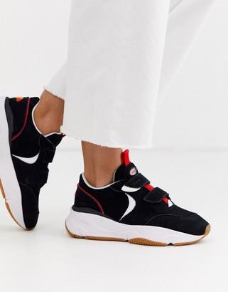 Ellesse cesana suede chunky sneakers in black