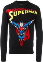 Philipp Plein Superman intarsia jumper