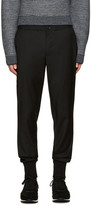 Paul Smith Black Wool Drawstring Trousers
