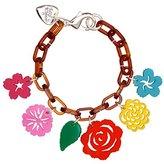 Tatty Devine Women's Mexican Flower Charm Bracelet of Length 20cm