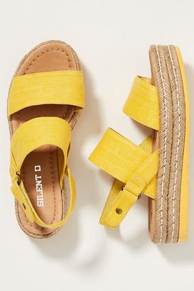 Silent D Alek Platform Sandals By in Beige Size 37