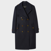 Paul Smith Women's Navy 'A Mac To Travel In' Wool Mac