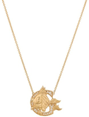 Stephen Webster Yellow Gold and Diamond Fish Tales G Necklace