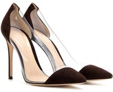 Gianvito Rossi Plexi suede and plastic pumps
