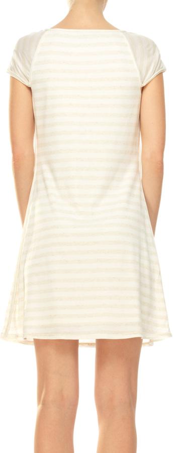 Max Studio Striped Jersey Dress