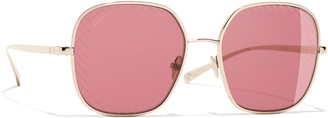 Chanel Square Sunglasses CH4252 Gold/Red