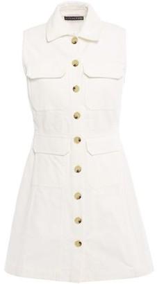 ALEXACHUNG Flared Cotton-corduroy Mini Dress
