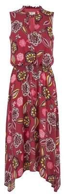 Dorothy Perkins Womens **Billie & Blossom Tall Pink Floral Print Shirred Dress, Pink
