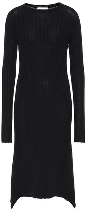 Helmut Lang Wool midi dress