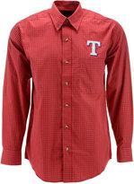 Antigua Men's Long-Sleeve Texas Rangers Button-Down Shirt
