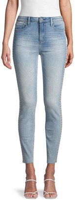 Driftwood Jackie High-Rise Floral-Embroidered Jeans