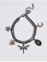 M&S Collection Charm Multi Drop Bracelet