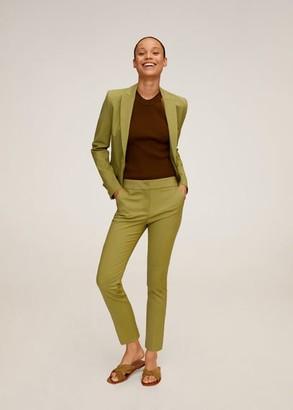 MANGO Suit slim-fit pants sky blue - 2 - Women