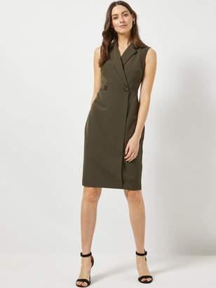 Dorothy Perkins Tux Dress - Khaki