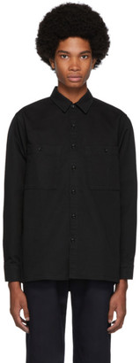 Blue Blue Japan Black Twill Big Pocket Long Sleeve Shirt