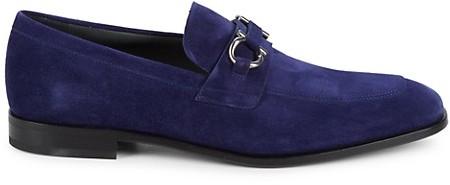 Blue Suede Shoes Ferragamo | Shop the