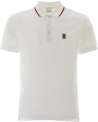 Burberry Embroidered Logo Polo Shirt
