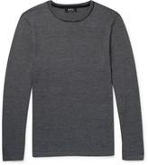 A.p.c. - Toby Slim-fit Striped Merino Wool Sweater